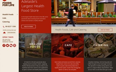 A new look Foods For Life website
